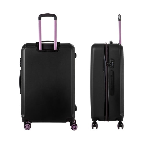 Sada 3 čiernych cestovných kufrov Berenice Wingy