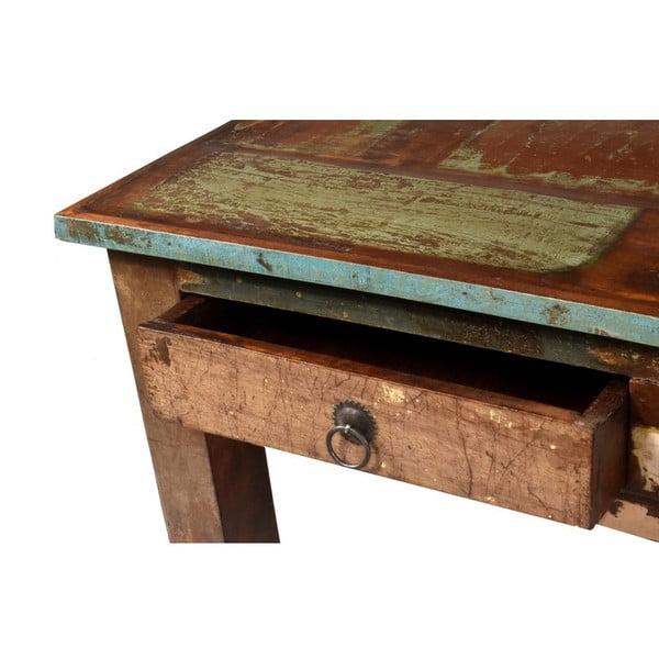 Stolík z teakového dreva Goa, 90x63 cm