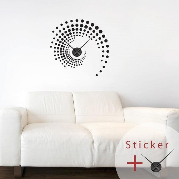 Samolepiace hodiny Spiral, 55 cm