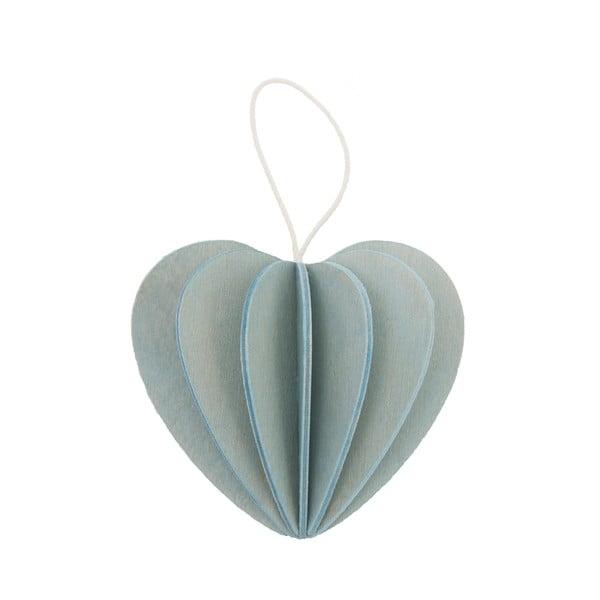 Skladacia pohľadnica Heart Light Blue, 6.8 cm