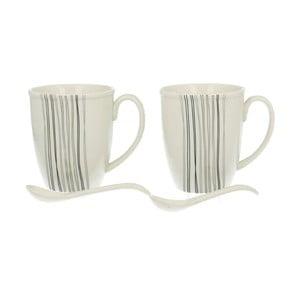 Set 2 porcelánových hrnčekov Silver Line