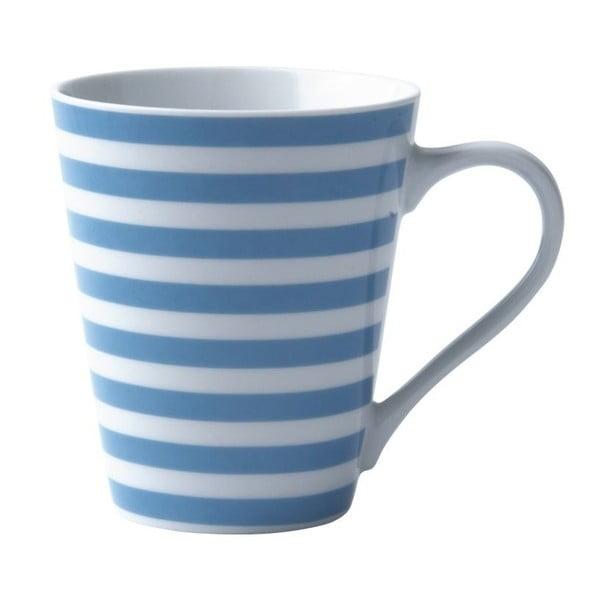 Porcelánový hrnček Striped Turquoise