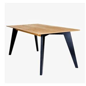 Jedálenský stôl s čiernymi nohami Radis Huh Oak, dĺžka 150 cm