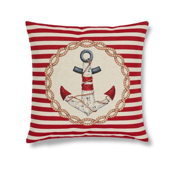 Obliečka na vankúš Maritim Anchor Red, 45x45cm