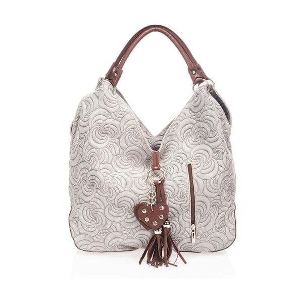 Sivá kožená kabelka Giorgio Costa Sindy