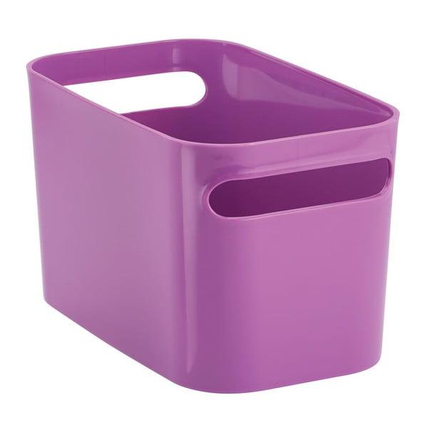 Úložný kôš Una Purple, 25,5x15x15 cm