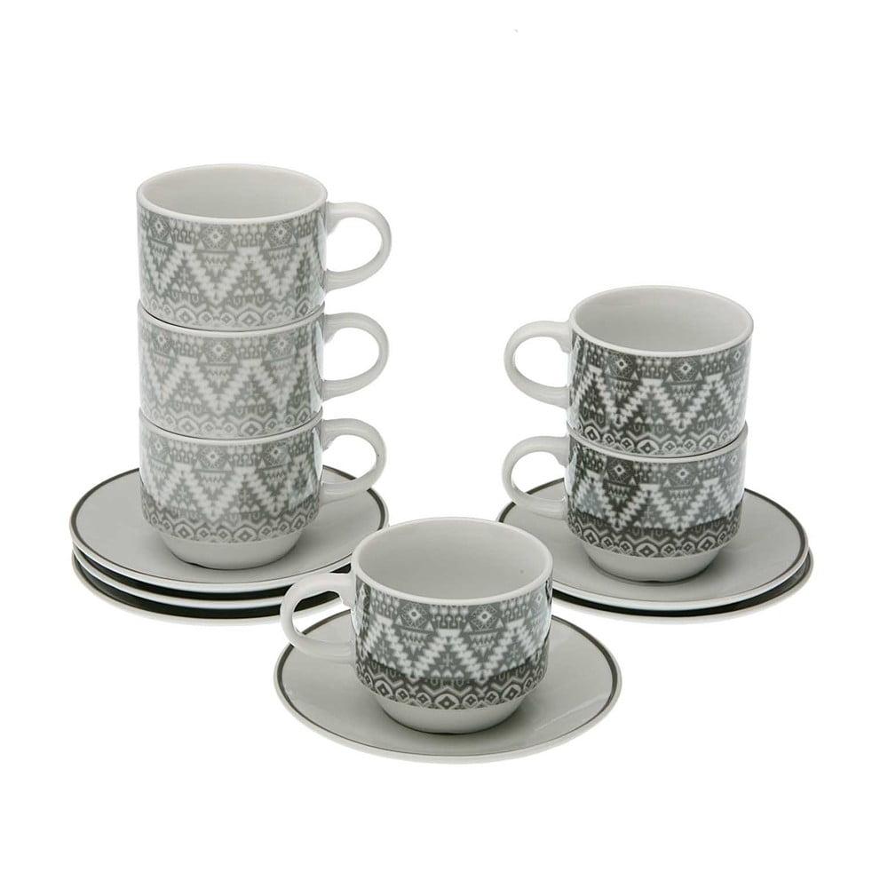 Set 6 hrnčekov na čaj s tanierikmi a stojanom Versa Ornament