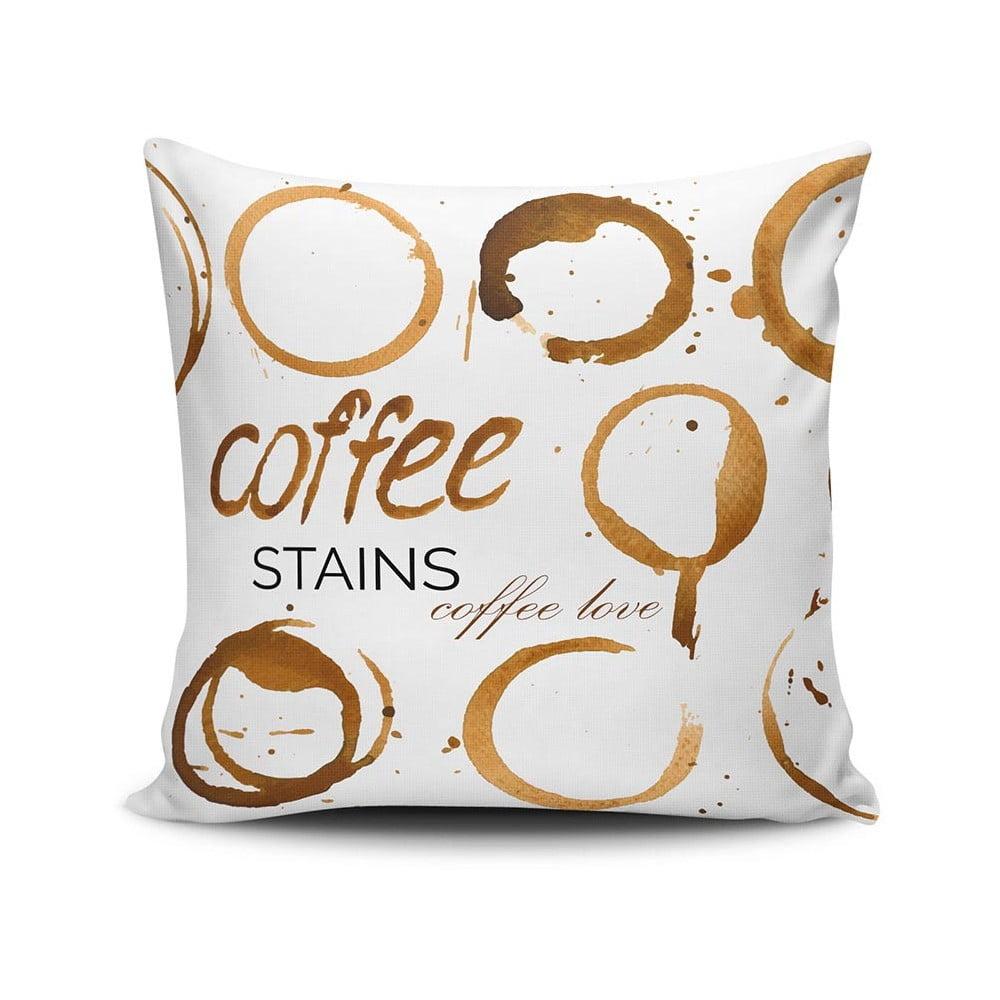 Vankúš Coffee Stains, 45 × 45 cm