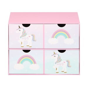 Úložný box s 2 zásuvkami Just 4 Kids Unicorn Magic Keepsake Box