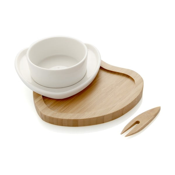Servírovacia miska s bambusovým podnosom a napichovadlom Brandani Ciur