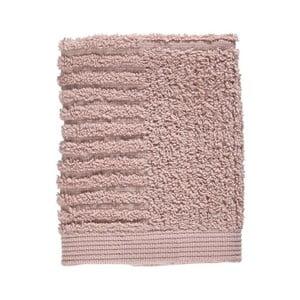 Svetloružový uterák zo 100% bavlny na tvár Zone Classic, 30×30 cm