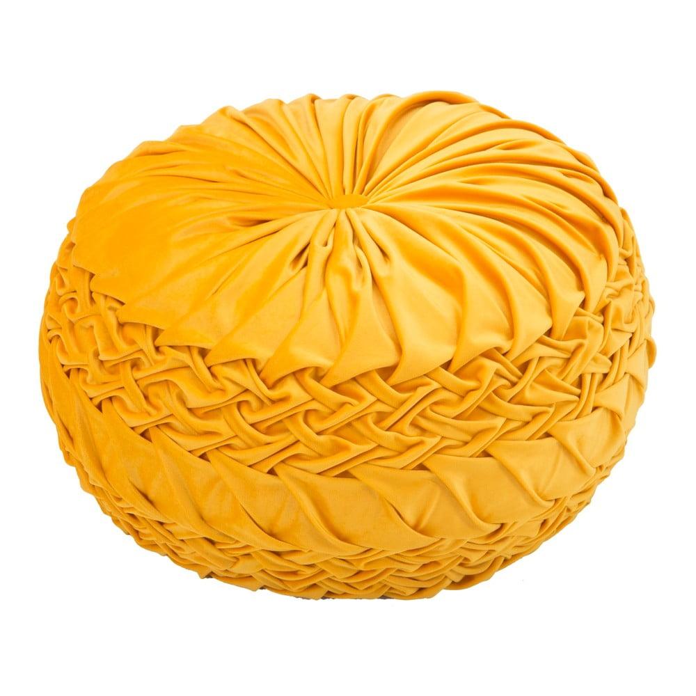 Žltý puf Mauro FerretiI Queen, ø 48 cm