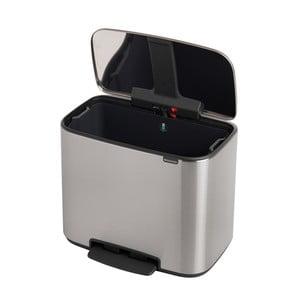 Odpadkový pedálový kôš vo farbe matnej ocele FPP Brabantia Bo, 36 l