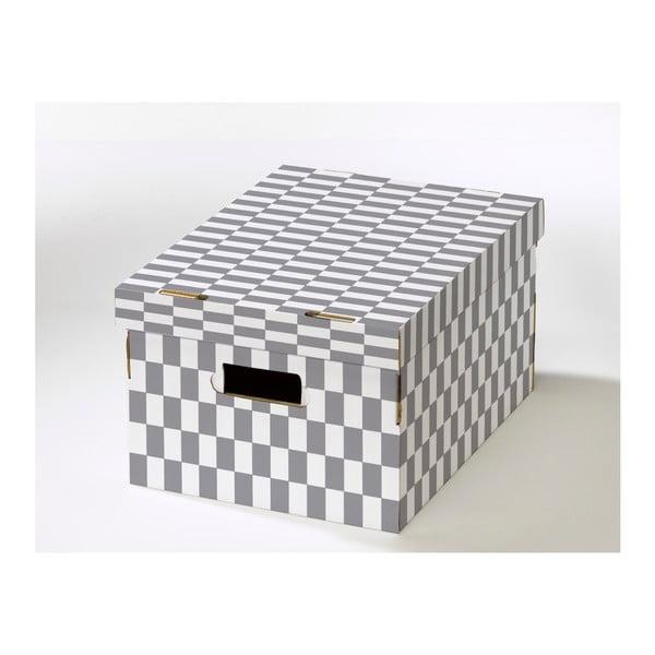 Škatuľa s viečkom z vlnitej lepenky Compactor Lenny, 40 × 31 × 21 cm