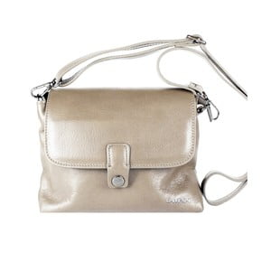Sivobéžová kožená kabelka Lampoo Kahla