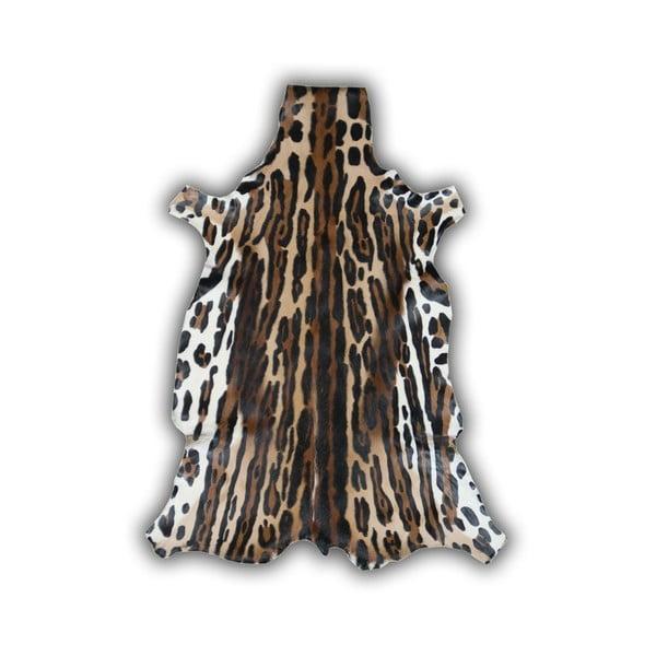 Kožená predložka Ocelota, 85x100 cm