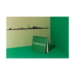 Čierna nástenná dekorácia so siluetou mesta The Line Toronto XL