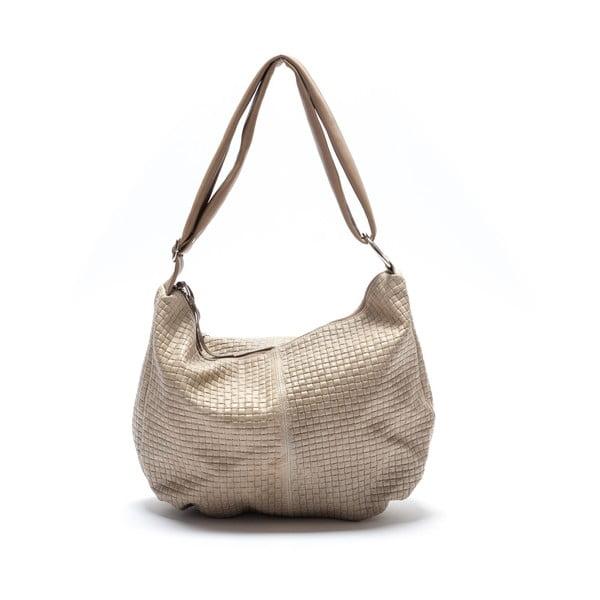 Béžová kožená kabelka Mangotti Lobelia