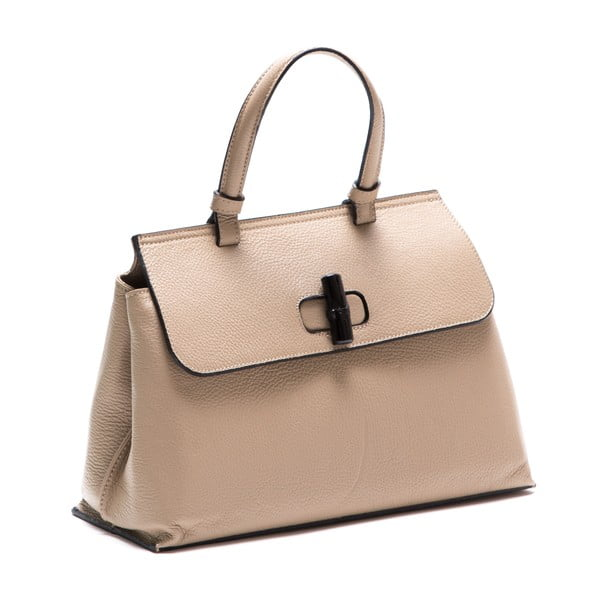 Krémová kožená kabelka Luisa Vannini