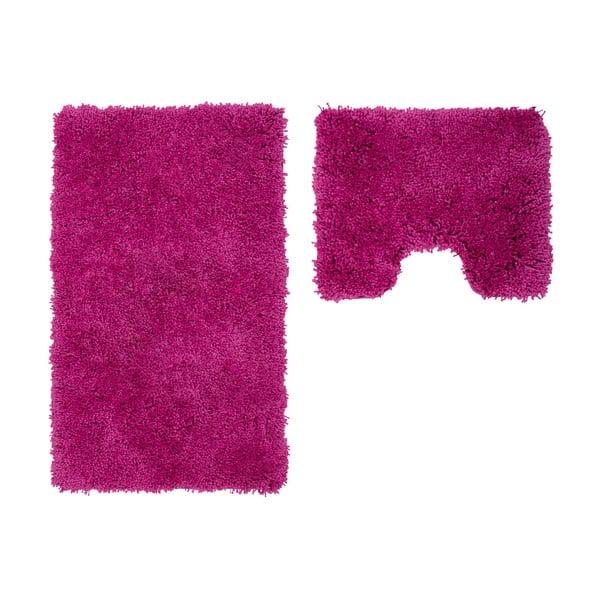 Sada 2 kúpeľňových predložiek s výrezom Citylights Purple