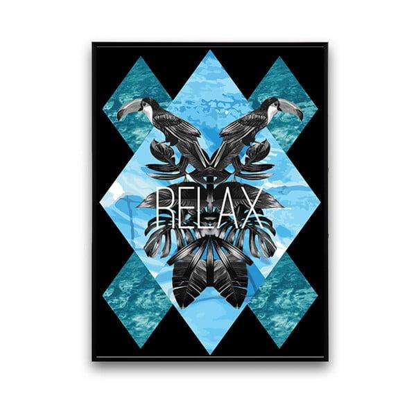 Plagát s tukanmi Relax, 30 x 40 cm