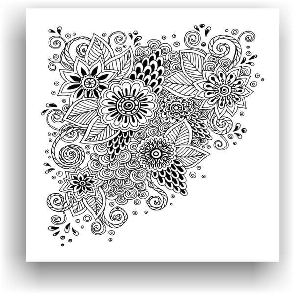 Obraz na vymaľovanie Color It no. 64, 50x50 cm