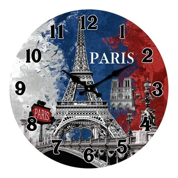 Sklenené hodiny V Paríži, 38 cm