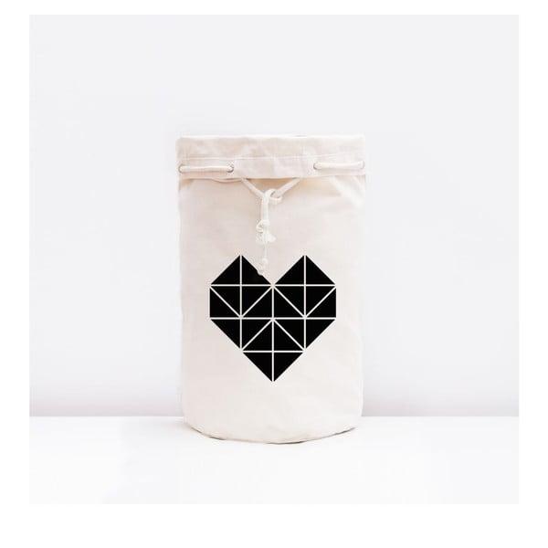 Úložná plátená taška Origami Herz