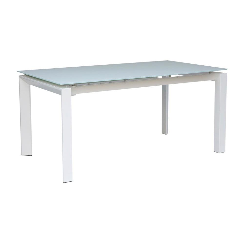 Biely rozkladací jedálenský stôl sømcasa Selena, 160 × 90 cm