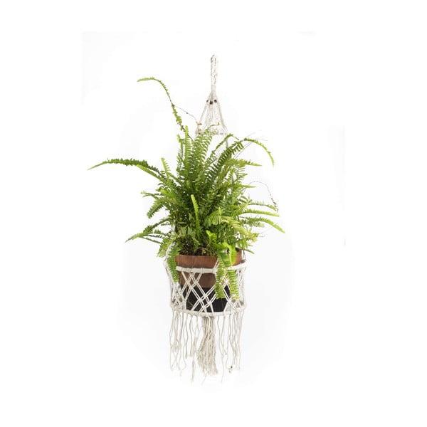 Závesný držiak na kvetináč Macrame Blanco, 30 cm