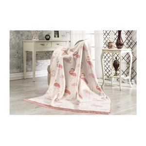 Bavlnená deka Aksu Flamingo, 152×127 cm