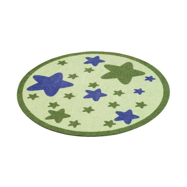 Detský zelený koberec Hanse Home Hviezdy, ⌀100cm