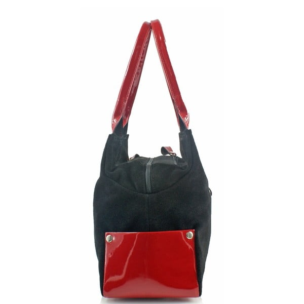 Kožená kabelka Boscollo Black 3224