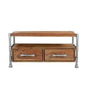 Televízny stolík z palisandrového dreva s dvomi zásuvkami SOB Pipe