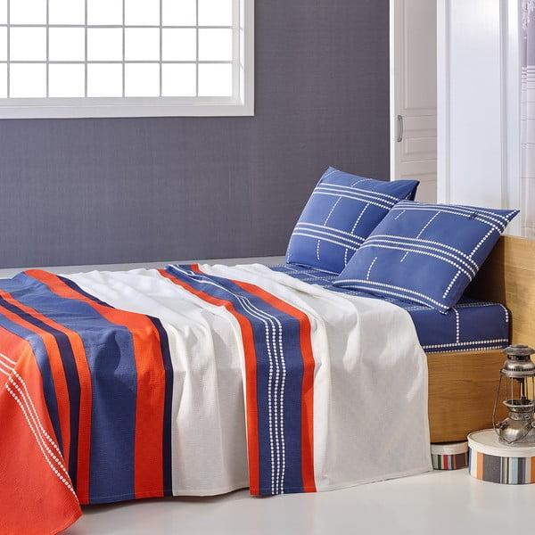 Sada prikrývky cez posteľ a prestieradla U.S. Polo Assn. Paterson, 200x220 cm