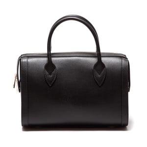 Čierna kožená kabelka Sofia Cardoni Iniga