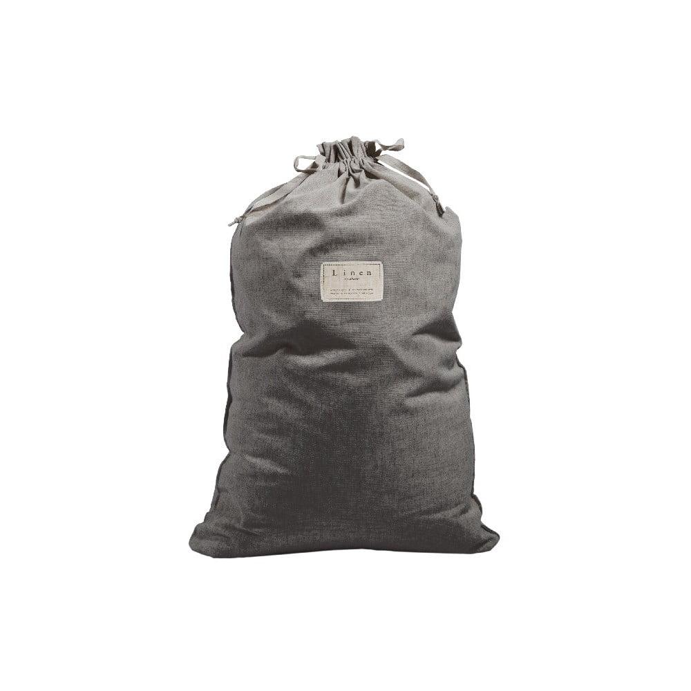 Látkový vak na prádlo Linen Bag Cool Grey, výška 75 cm