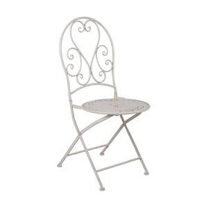 Biela kovová skladacia stolička Crido Consulting Snow