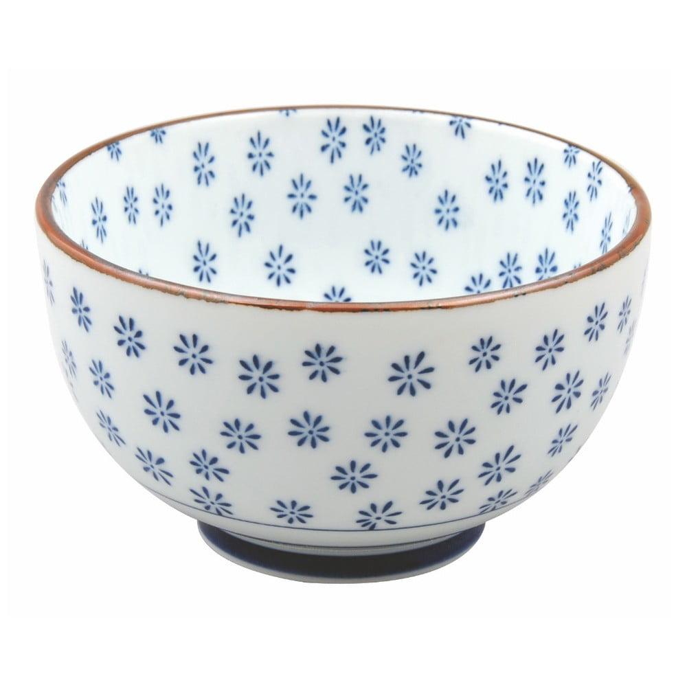 Modrá porcelánová miska Tokyo Design Studio Flower, 500 ml