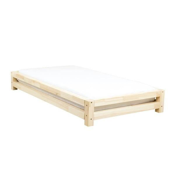 Jednolôžková posteľ z lakovaného smrekového dreva Benlemi JAPA, 80 × 190 cm