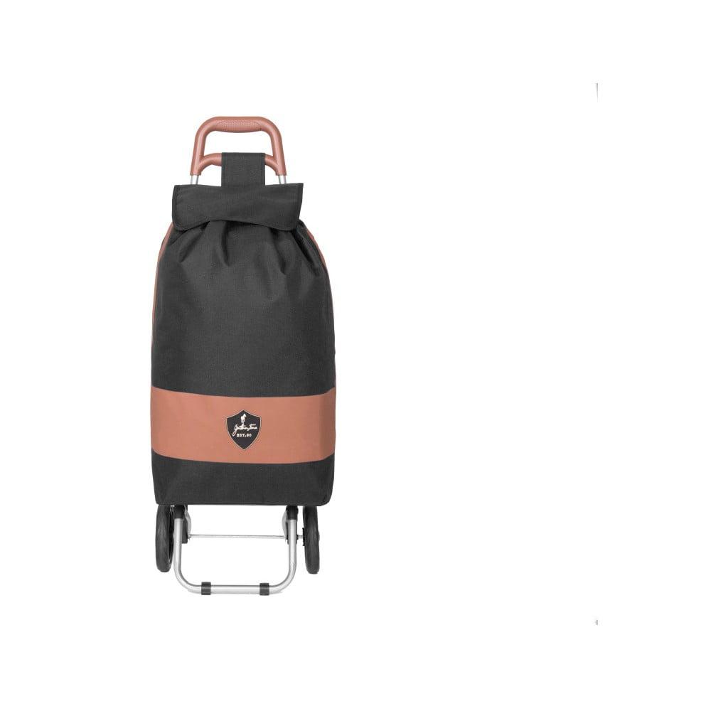 Čierna nákupná taška na kolieskach GENTLEMAN FARMER Chariot de Marché, 38 l