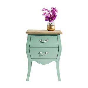 Zelená drevená komoda Kare Design Romantic
