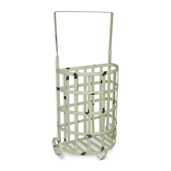 Košík Whitewashed Iron, 37x21x71 cm