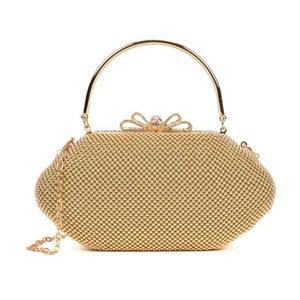 Listová kabelka v zlatej farbe Roberta M Kala Oro