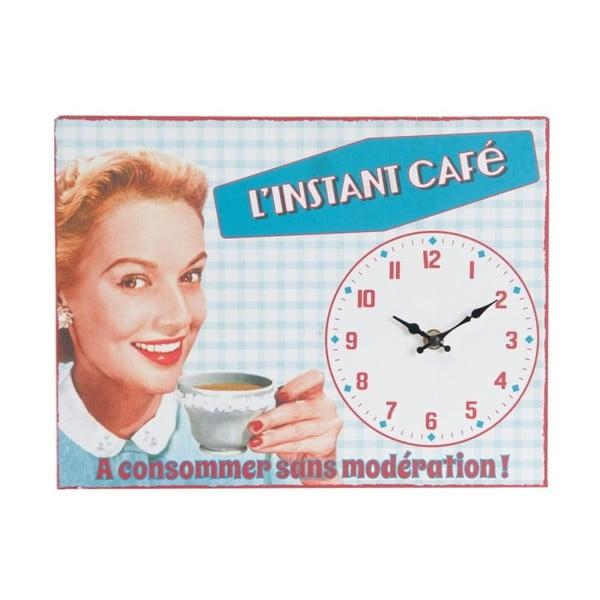 Nástenné hodiny Instant Café, 32x24 cm