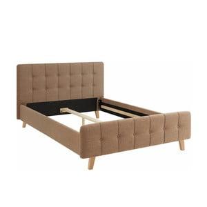 Hnedá dvojlôžková posteľ Støraa Limbo, 140 x 200 cm