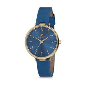 Modré dámske hodinky s koženým remienkom Bigotti Milano Anette