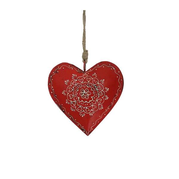 Závesná drevená dekorácia v tvare srdca Antic Line Decoration