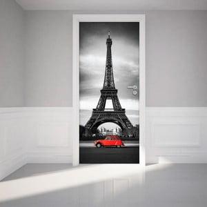 Adhezívna samolepka na dvere Ambiance Eiffel Tower