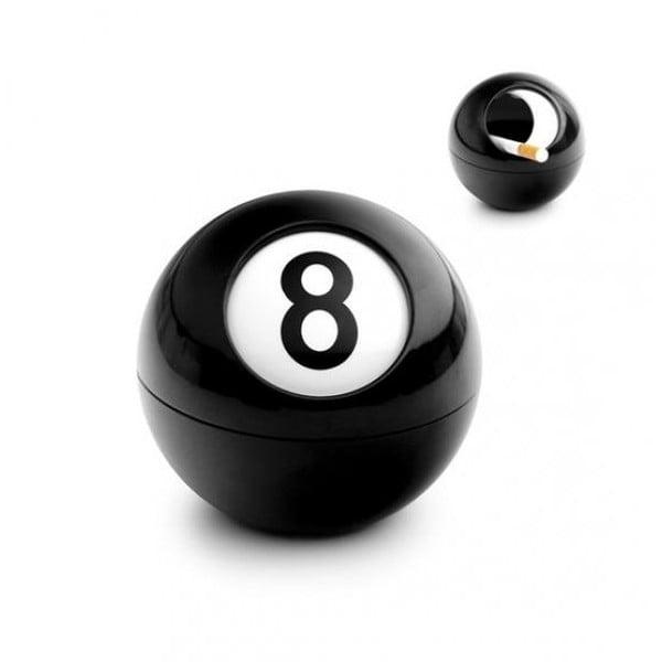 Popolník v tvare biliardová guľa